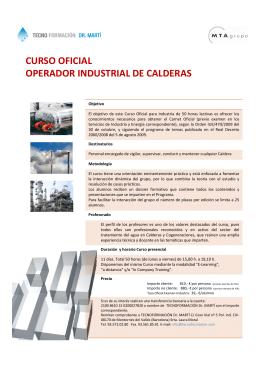curso oficial operador industrial de calderas