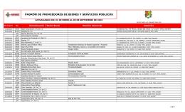 PADRÓN DE PROVEEDORES DE BIENES Y SERVICIOS PÚBLICOS