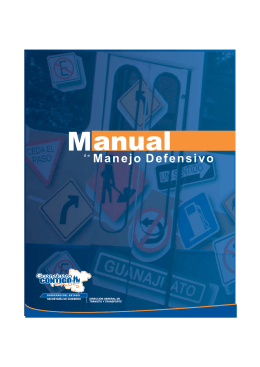 Manual de Manejo Defensivo - Dirección General de Transporte del