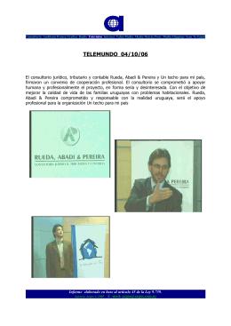 TELEMUNDO 04/10/06 - Rueda, Abadi y Pereira
