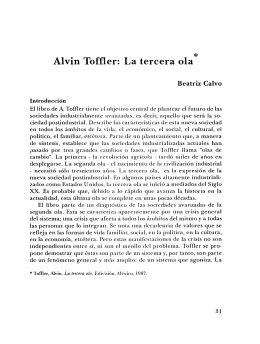 Alvin Toffler: La tercera ola