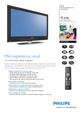 42PFP5532D/12 Philips Flat TV panorámico con Pixel Plus