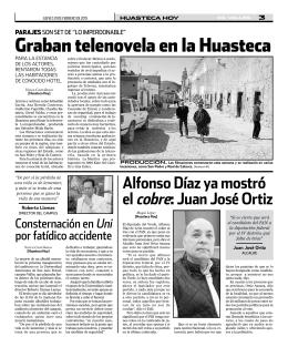 Graban telenovela en la Huasteca