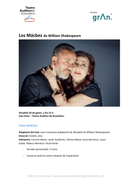 Los Mácbez de William Shakespeare
