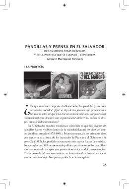 PANDILLAS Y PRENSA EN EL SALVADOR