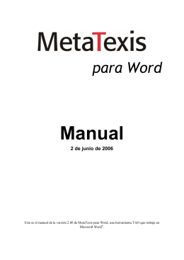 "MetaTexis ""NET"