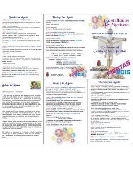 Programa fiestas 2015 desarrollado