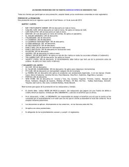 Reglamento Promociones American Express