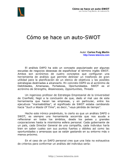SWOT ANALYSIS \(DAFO, EN ESPAÑOL\)