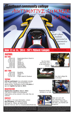AUTOMOTIVE SUMMER CAMP - Southeast Community College