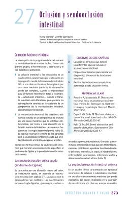 Oclusión y seudooclusión intestinal