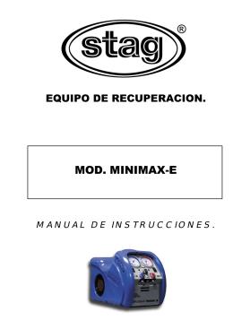 Manual de instrucciones.Minimax