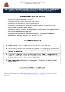 Formulário para Avaliação de Solicitação de Medicamento