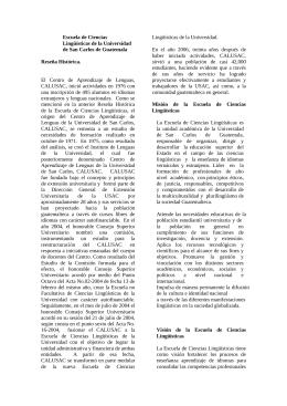 Escuela de Ciencias Linguisticas - Universidad de San Carlos de