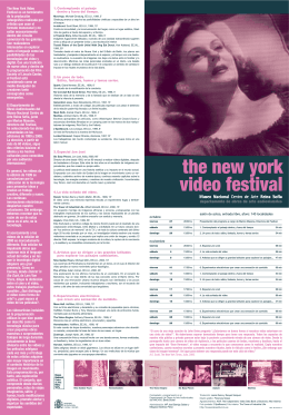 the new york video festival - Museo Nacional Centro de Arte Reina