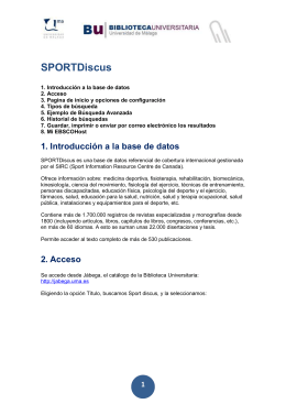 Guía SPORTDiscus (EBSCOhost)
