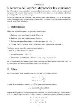 El teorema de Lambert: diferenciar las soluciones