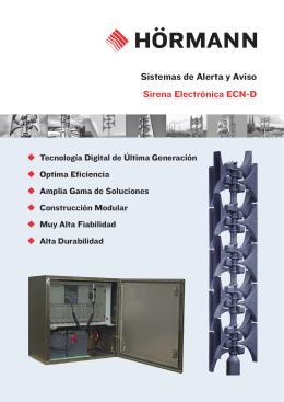 Sistemas de Alerta y Aviso Sirena Electrónica ECN-D