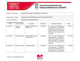 Nombre del documento - Gobierno del Estado de Michoacán