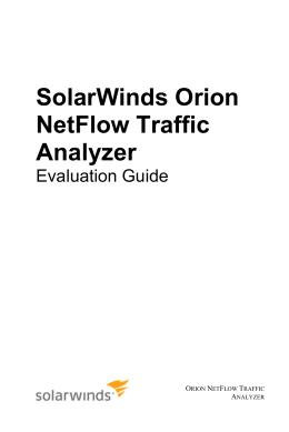 SolarWinds Orion NetFlow Traffic Analyzer Evaluation Guide