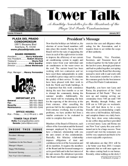 January 2011 - Cgpnewsletters.com