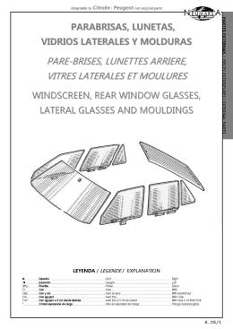 6.5 parabrisas, lunetas, vidrios laterales y molduras