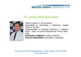dr. sergio sepúlveda pinar - Hospital Clínico Universidad de Chile