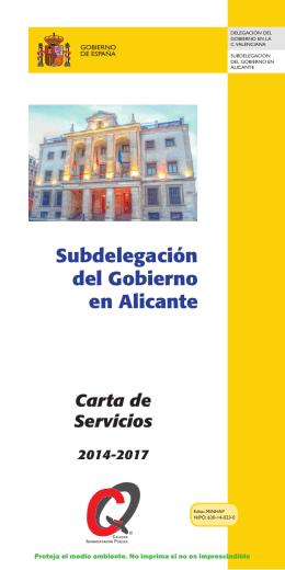Subdelegación del Gobierno en Alicante: Carta de Servicios 2011