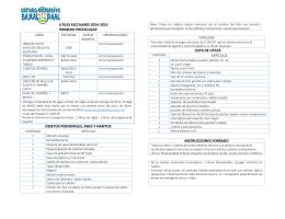 utiles escolares 2014-2015 primero preescolar objetos