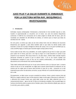 Estudio Juice Plus+ y MUJERES EMBARAZADA[...]