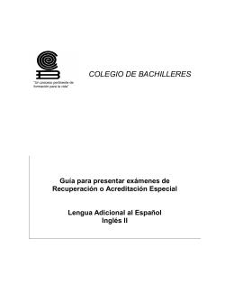LAE II (Plan 1992) - Colegio de Bachilleres