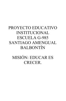 educar es crecer. - Ministerio de Educación