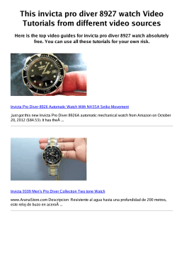#Z invicta pro diver 8927 watch PDF video books