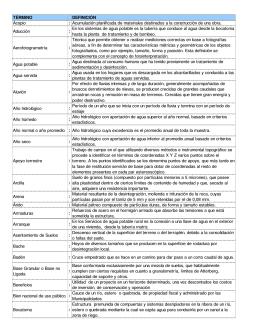 Glosario - Dirección de Obras Hidráulicas