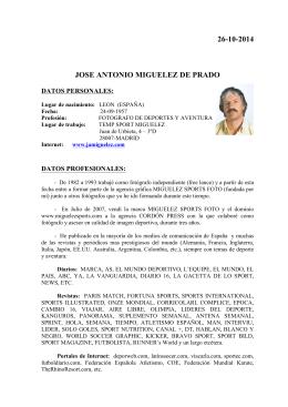 Biografía - Jose Antonio MIGUELEZ