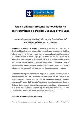 Royal Caribbean presenta las novedades en