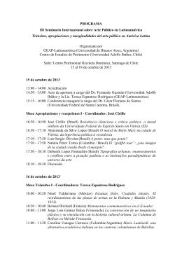 PROGRAMA III Seminario Internacional sobre Arte Público en