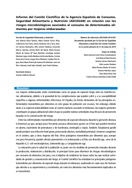 Revista del comité científico de la aecosan número diecinueve
