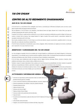 TAI CHI CHUAN CENTRO DE ALTO REDIMIENTO DHARANANDA