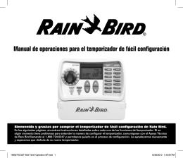 Manual de operaciones para el temporizador de fácil