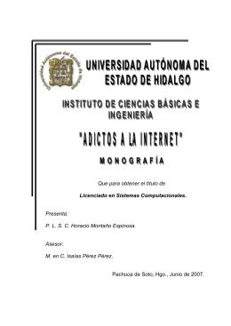 Adictos a la internet - Dirección General de Servicios Académicos