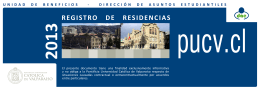 Registro de Residencias 2013 - Pontificia Universidad Católica de