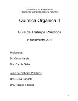 Química Orgánica II - Departamento de Química Orgánica