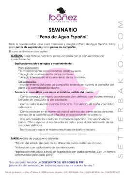 SEMINARIO Perro de Agua español 2015