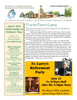 Fr. Larry`s Retirement Party