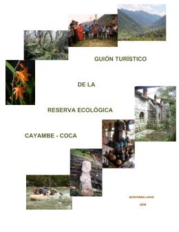 guión turístico de la reserva ecológica cayambe