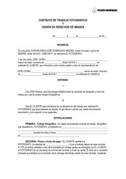 contrato de trabajo fotográfico y cesión de derechos de imagen