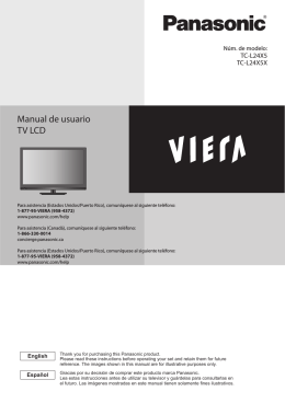 Manual de usuario TV LCD