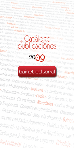 Catálogo publicaciones