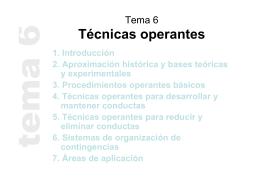 Tema 6 Técnicas operantes